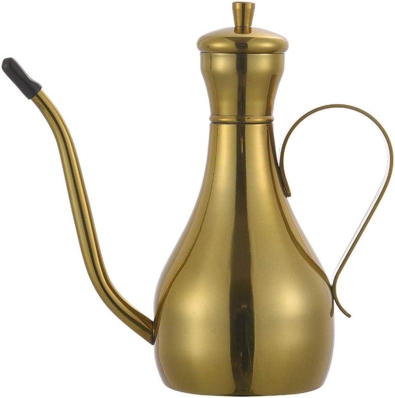 Seasoning Tank Stainless Steel Glass Jar Soy Sauce Bottle Oil Pot Set,Suit R1F4