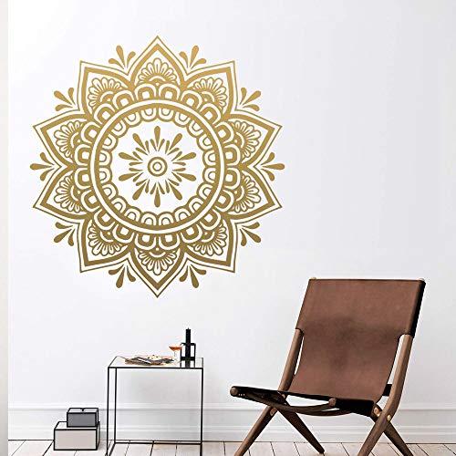 Mandala pegatinas de pared pegatinas de pared papel tapiz habitación de los niños sala de estar decoración del hogar arte de pared impermeable A5 57x59cm