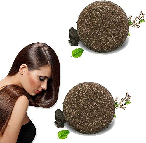 Champú para oscurecer el cabello, jabón en barra, jabón sólido para el cabello, acondicionador orgánico natural y esencia para el cuidado de la reparación, barra de jabón natural para el cabello 2pcs