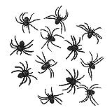 Boland 74466 - Spinnen Set, 12 Stück, Größe 7 x 8 cm, Schwarz, Achtbeiner, Krabbeltiere, Tiere,...