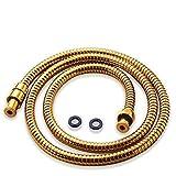 Acefy tubo doccia dorato per doccetta doccia/flessibile doccia oro lunghezza 1.5M