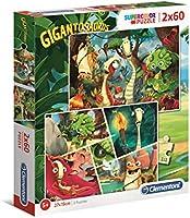 Clementoni- Gigantosaurus - Puzzle (2 x 60 Piezas) (21614)