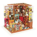 LoKauf Bibliothek Puppenhaus DIY Dollhouse Miniature Kit DIY 3D Puzzle mit LED Licht
