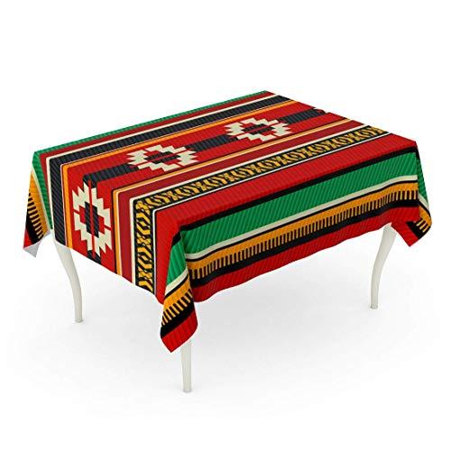 LIS HOME Rechteck Tischdecke Rot Saudi Vintage Traditionelle Sadu Beduinen Weberei Zelt Muster Tradition Arabischer Teppich Alte Tischdecke