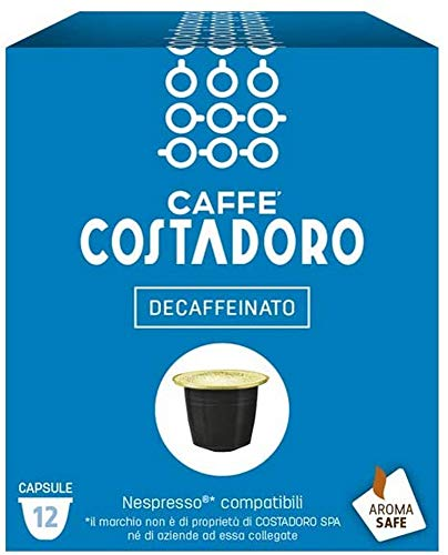CAFFE' COSTADORO Costadoro Entkoffeiniert Nespresso Kompatibel Schachtel mit 12 Kapseln, 60 g