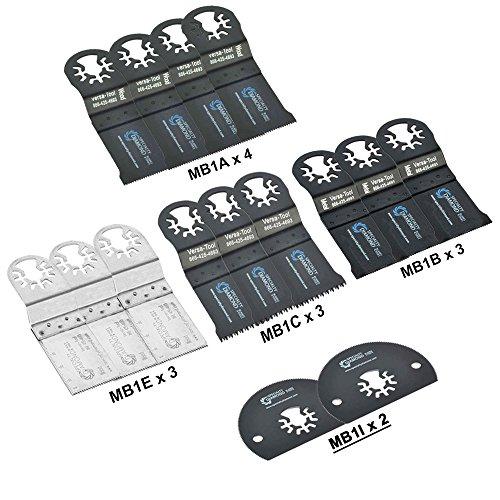 Find Bargain Versa Tool MBMTKIT1 Pack of 15 Universal Oscillating Multitool Blades Accessory Combo K...