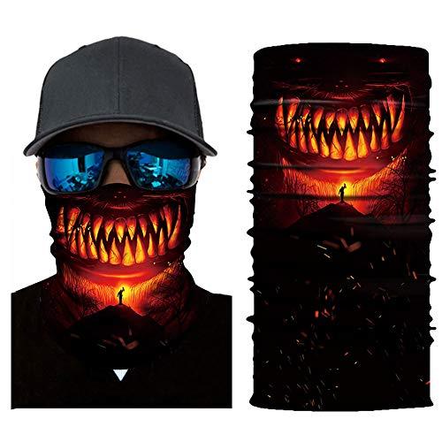 Bandanas multifunctionele sjaal heren hoofddoek dames - hoofdband, motorfietsbandana, schedel skull gezichtsmasker, balaclava gezichtsmasker, gezichtsmasker, gezichtsmasker, stofbescherming fiets voor outdoor motorfiets Cool Bandana-A