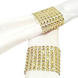 EZLIFE LiLiRoseuk 10 psc Hotel Supplies Serviettenring Servietten Schnalle Hochzeit Schaukeln golden