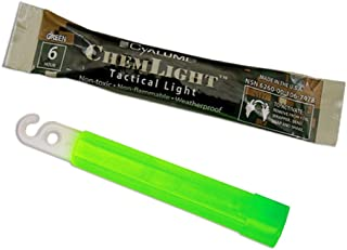 "Cyalume ChemLight Military Grade Chemical Light Sticks – 6 Hour Duration Light Sticks Provide Intense Light, Ideal as Emergency or Safety Lights, for Tactical Applications, Hiking or Camping and Much More, Standard Issue for U.S. Military Personnel – Green, 4"" Long (Pack of 100)"
