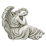 Design Toscano Harmony at Ease Angel Statue, Antique Stone