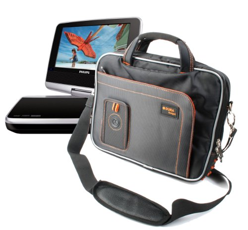 %31 OFF! DURAGADGET Black & Orange Protective Carry Bag - Compatible with PhilipsPV9002I Portable ...