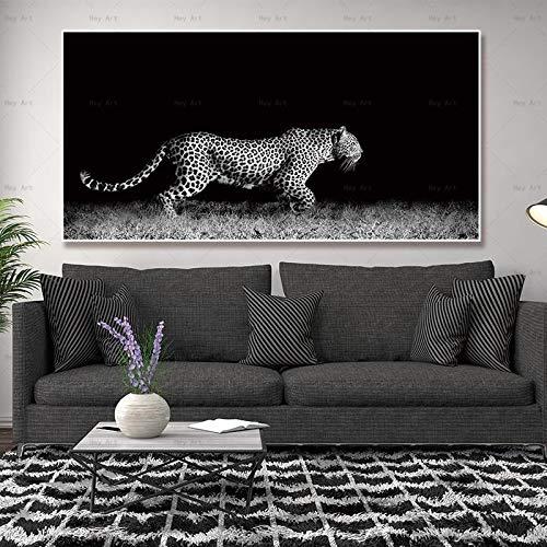 NIMCG Decoración para el hogar Cuadro Lienzo Animal Painting Obra para Sala de Estar Impresiones de Arte de Pared Tiger Poster Printing Lion (Sin Marco) R1 30x60CM
