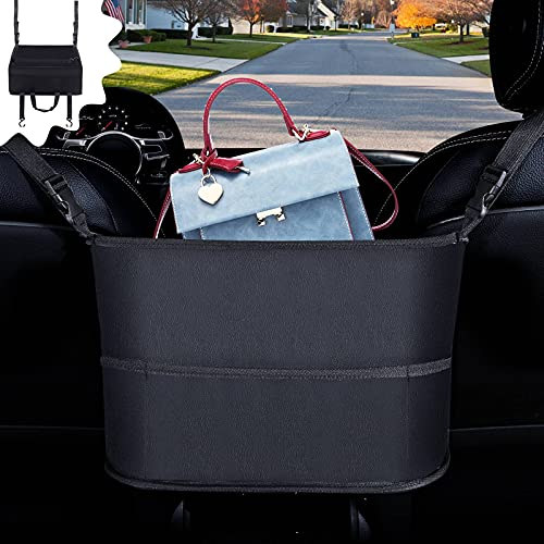 Purse Holder For Car Purse Holder Between Seats with Console Armrest boxes Car Net Pocket Handbag Holder Universal Car Handbag Holder Seat Back Organizer Fits Any Car Truck SUV Van