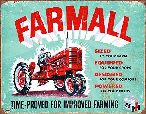 Desperate Enterprises Plaque en métal Farmall (modèle A).