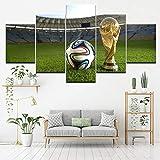 45Tdfc 5 Piezas Copa del Mundo del Fútbol - Deporte Fondo Pintura de la Pared La impresión de la Imagen en la Lona Art Fotos de la Obra para la Decoración Moderna del Ministerio del Interior