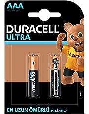 Duracell Ultra Alkalin AAA İnce Kalem Piller, 2'li paket