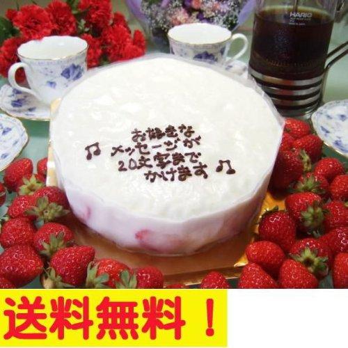 誕生日ケーキ (バースデー) にメッセージケーキ (大阪ヨーグルトケーキ) 5号 苺