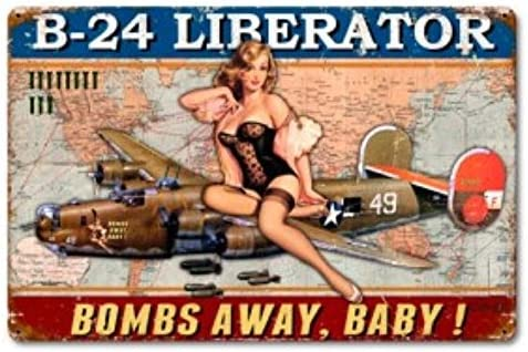 Consolidated Jacksonville Mall B-24 Albuquerque Mall Liberator Pinup Girl Metal Sign