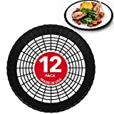 "Stock Your Home 9"" Paper Plate Holder in Black (12 Count) - Paper Plate Holders Plastic Heavy Duty - Plastic Paper Plate Holder - Woven Paper Plate Holder - Paper Plate Holders Reusable"