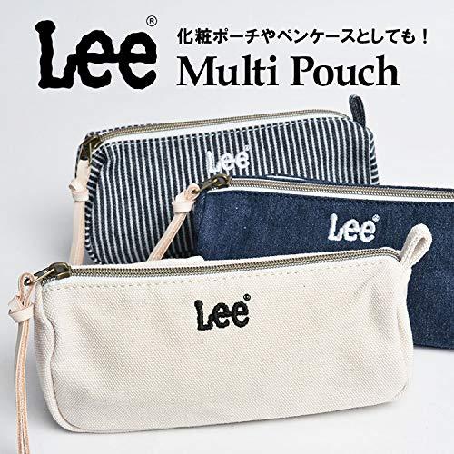 [リー]Leeポーチ大容量おしゃれマルチポーチ化粧ポーチペンケースデニムかわいい文房具筆箱ロゴミニポーチ小さい軽い