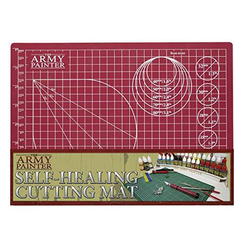 The Army Painter tapete de Corte autorreparable de Doble Cara de PVC Antideslizante – 3 Capas Cuadriculado en Miniatura y Tabla de Cortar Modelo, tamaño A4