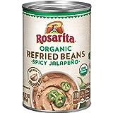 Rosarita Organic Spicy Jalapeno Refried Beans, 16 Oz. (Pack of 12)