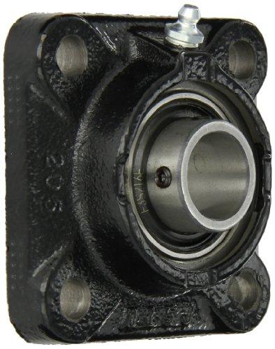 Link-Belt F3S216E Flange Unit, 4 Bolt Holes, Intermediate-Duty, Relubricatable, Non-Expansion, Cast Iron, Spring Locking Collar, Inch, 1