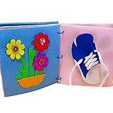 SNIIA Babybuch Stoffbuch Entdeckungsbuch Baby Spielzeug Früh Lernen Lernspielzeug Quiet Book Kinderbild-Handbuch Buch für die frühe kognitive Entwicklung Kinder Spielzeugtuch Bücher - 20cmx20cmx3cm