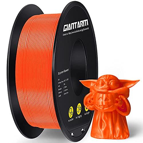 Filamento PLA 1,75 mm, GIANTARM Stampante 3D PLA Filamento 1 kg Spool (Arancia)