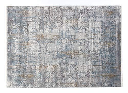 Musterring SINFONIA Vintage Designer Teppich 677 grau-Mix-blau 140x200 cm