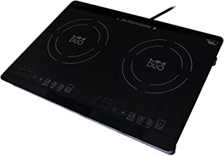 True Induction Mini Duo MD-2B Portable Counter Inset Double Burner Induction Cooktop, 120V, Black