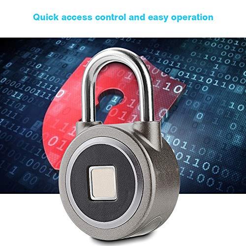 Pbzydu 【𝐄𝐚𝐬𝐭𝐞𝐫 𝐏𝐫𝐨𝐦𝐨𝐭𝐢𝐨𝐧 𝐌𝐨𝐧𝐭𝐡】 Smart Fingerprint Lock, 360° Finger Print Recognize Keyless Waterproof Lock APP Control Security Anti-Theft Padlock
