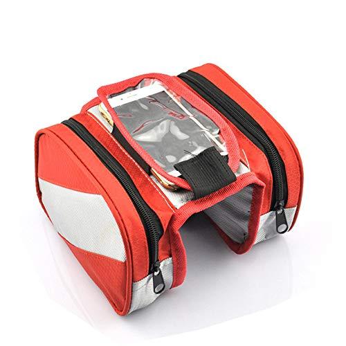 Touch screen rijden mobiele telefoon tas zadel zak-fiets bovenste buis zak beam zak-mountainbike voortas fiets apparatuur-rode slijtvast-rij-apparatuur