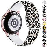 Vobafe Compatible con Samsung Galaxy Watch Active 40mm Correa/Active 2 Correa, 20mm Correas de Repuesto de Silicona para Galaxy Watch 3 41mm/Gear S2 Classic/Gear Sport Smart Watch, Leopardo