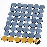 Shintop Furniture Glides, 48 Stück Teflon Möbelgleiter Selbstklebend PTFE Gleiter für Möbel Easy Mover(Blau)