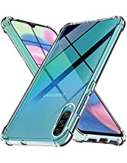Ferilinso Funda para Samsung Galaxy A50S,A30S,A50 Carcasa,[Reforzar la versión con Cuatro Esquinas][Funda Protectora de la cámara] Funda Protectora de Silicona de Piel de Goma TPU (Transparente)