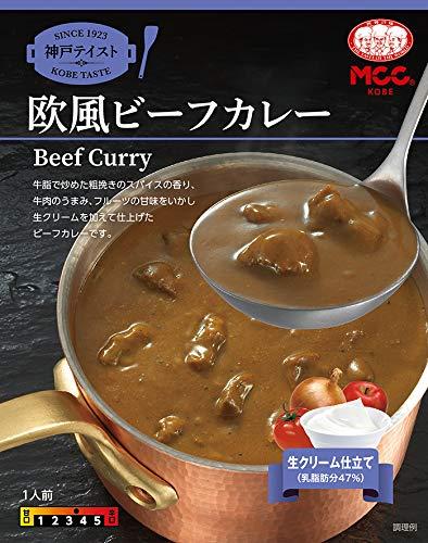 MCC食品 神戸テイスト 欧風ビーフカレー 180g×20個 4901012048041*20