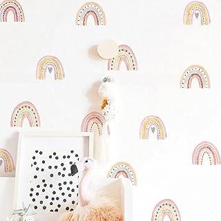 SüssUAE Nursery Wall Stickers Heart 36 mini Rainbow