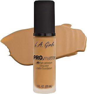 L.A.Girl Pro Mattte Hight Definition Long Wear Matte Foundation 30ml, Light Tan, GLM676