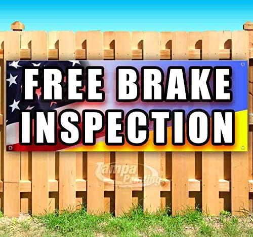 Free オリジナル Brake Inspection 13 oz Heavy-Duty Non-Fabric Banner Vin 1着でも送料無料