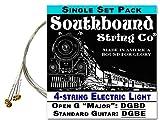 Electric 'Light' 4-String Cigar Box Guitar Strings - Open G/Open D/Standard Tunings
