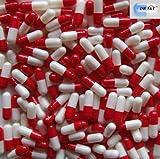 DR T&T 1000 tamaño 3 UE productos cápsula cápsulas de gelatina vacías Roja y blanca