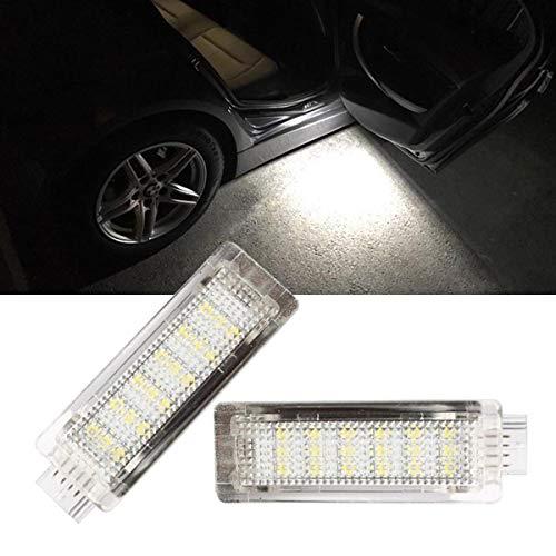 GOFORJUMP 2 Unids/Set Tronco de Coche LED Luces de Cortesía 18 SMD Cortesía Puerta Puddle Footwell Boot Lamp para B/MW
