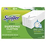 Swiffer Sweeper Dry Mop Refills for Floor Mopping and Cleaning, All Purpose Floor Cleaning Product, Unscented, 52 Count(packaging may vary)