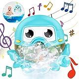 Gifort Badespielzeug Bubble, Seifenblasenmaschine Spielzeug, Octopus Seifenblasen Wasserspielzeug mit Badespielzeug Bubble Machine Automatische mit 42 Musik für Kinder