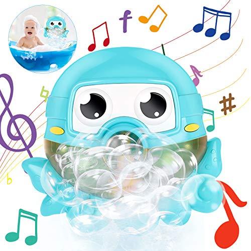 Gifort Zabawka kąpielowa, maszyna do baniek mydlanych, zabawka, ośmiokątna zabawka do kąpieli, automatyczna maszyna do baniek mydlanych, 42 muzyka dla dzieci