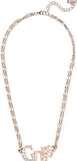 Rose Gold-Tone Logo Necklace