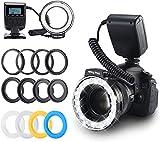 Emiral Anillo Flash 48 Macro LED Bundle con Control de Potencia de Pantalla LCD,...