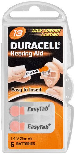 Cellules auditive duracell - 13–bL 6 v (pR48/dA13 duracell