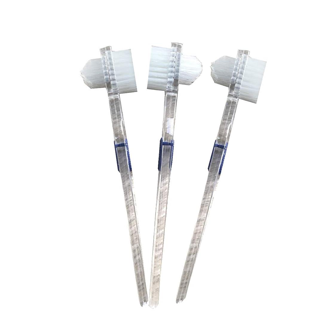 熱望する医学結婚したHealifty 二重毛ヘッド義歯ブラシセット義歯ケア9pcsの歯のクリーニングツール